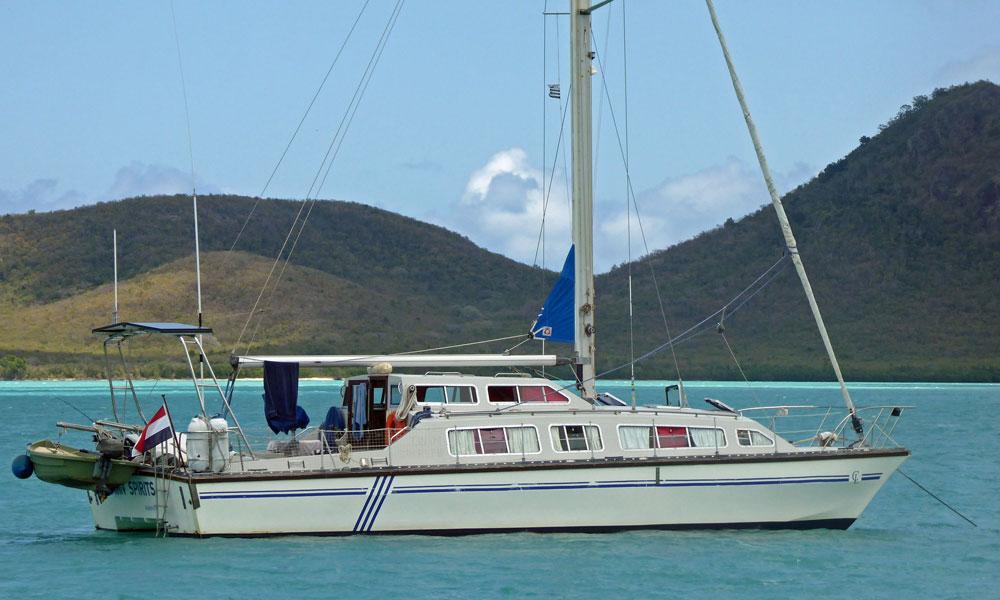 A Catalac 12m cruising catamaran