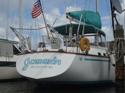 An Endeavour 42 sailboat