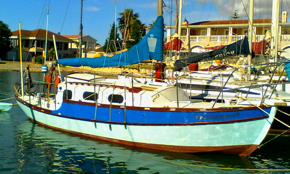 An Eventide 26 sailboat