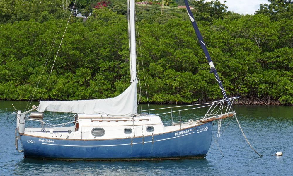 a Flicka 20 sailboat