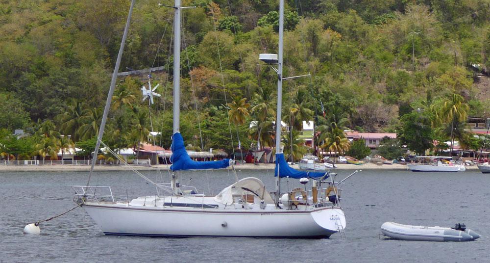 A Gib'Sea 37, also produced as the Jeanneau 'Sun Fizz'