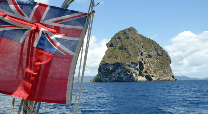 HMS Diamond Rock, off the French Island of Martinique