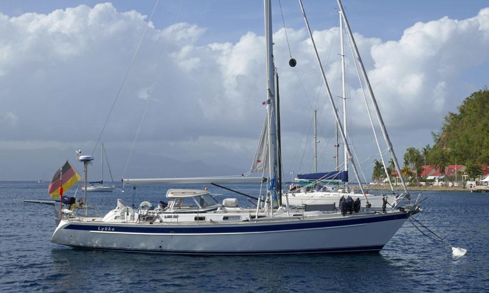 A Halberg Rassey 46 sailboat