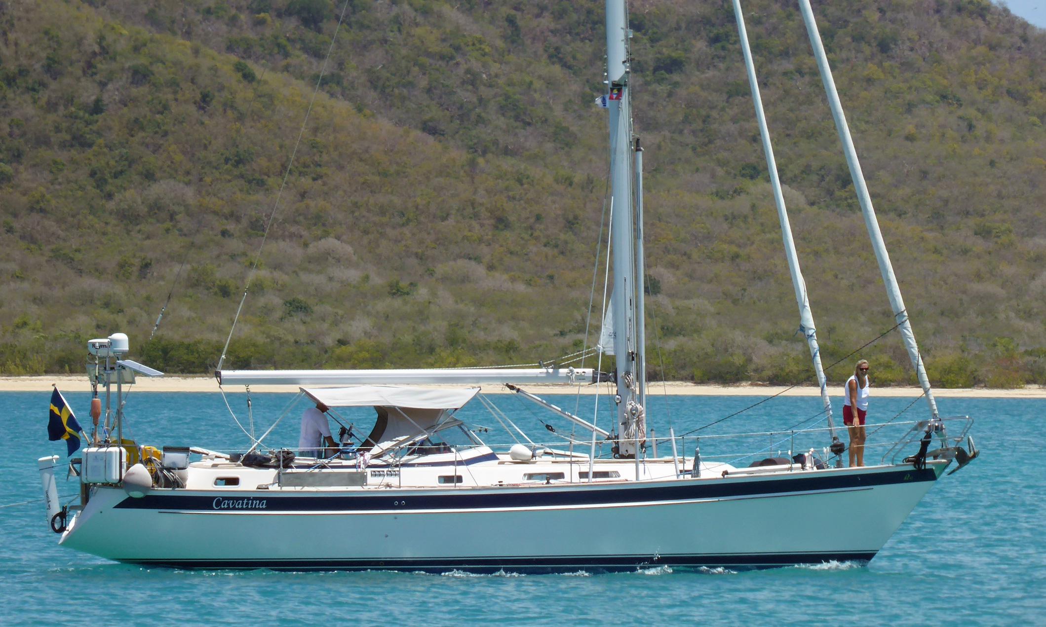 A Hallberg-Rassy 42 cruising yacht