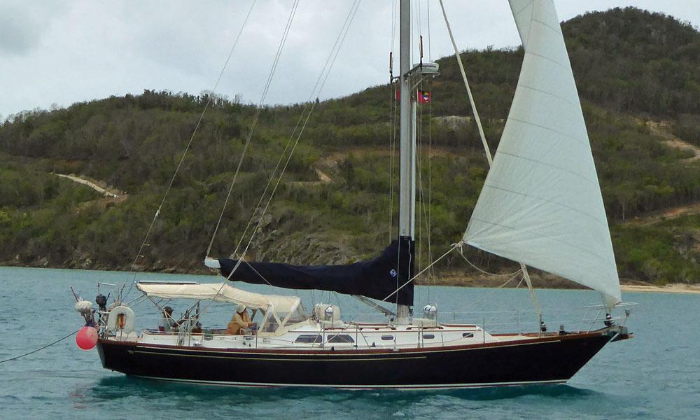 A Hinckley Sou'wester 42 MkII sailboat