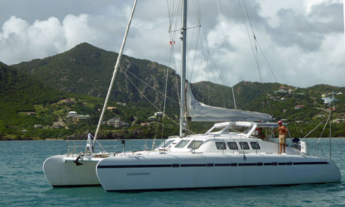 A Freebird 50 cruising catamaran
