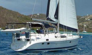 A Hunter Passage 450 sailboat