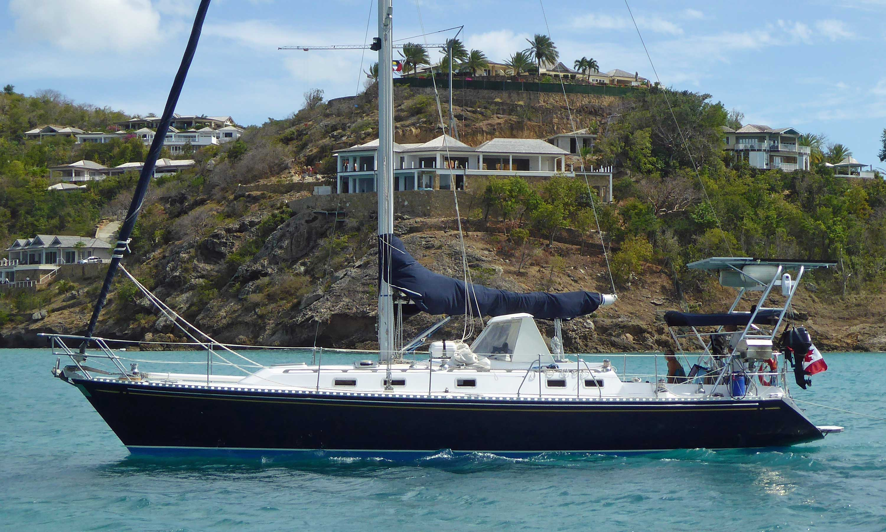 A Hylas 42 cruising sailboat