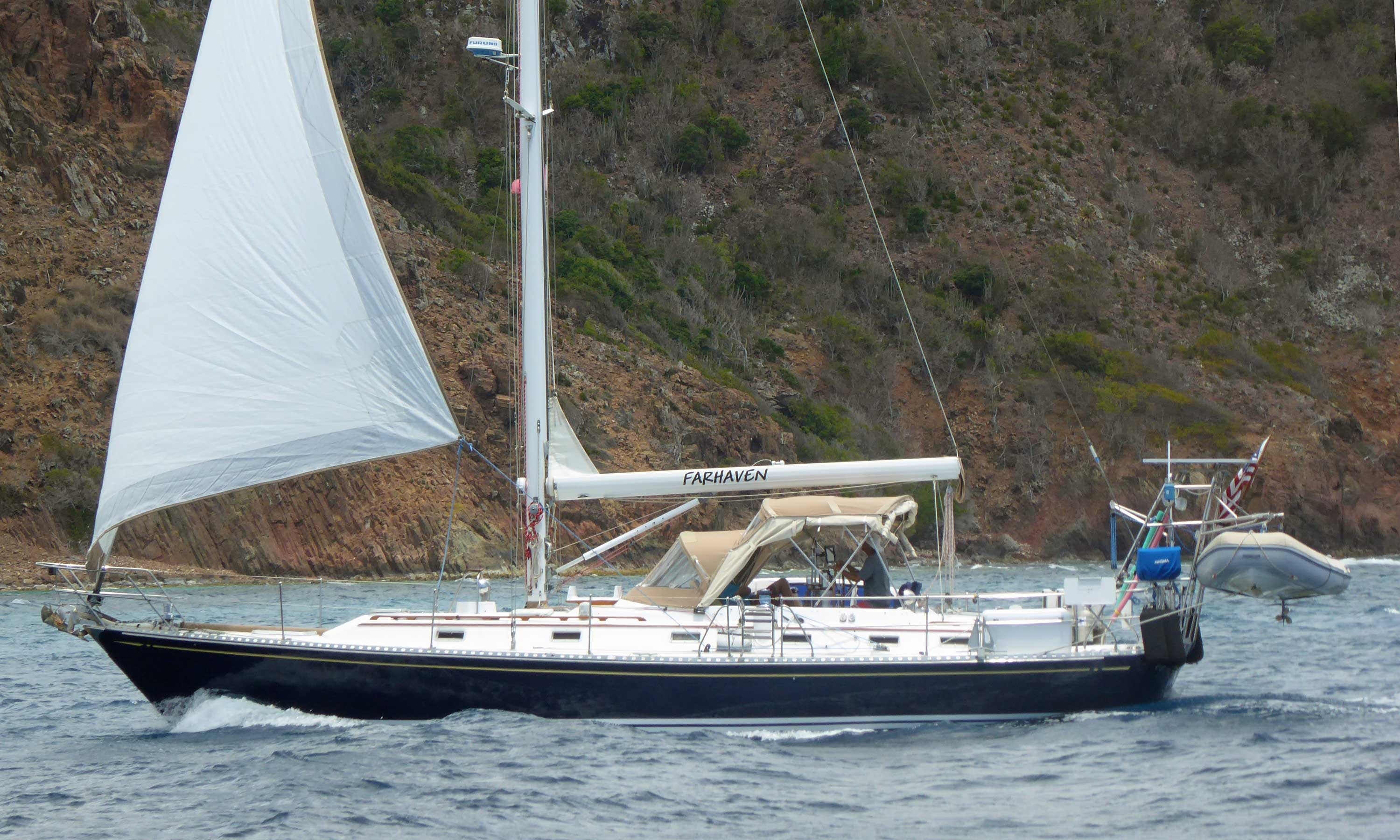 A Hylas 44 sailboat