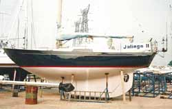 Jjalingo 2, a heavy displacement, long keel, Nicholson 32 Mk 10 sailboat