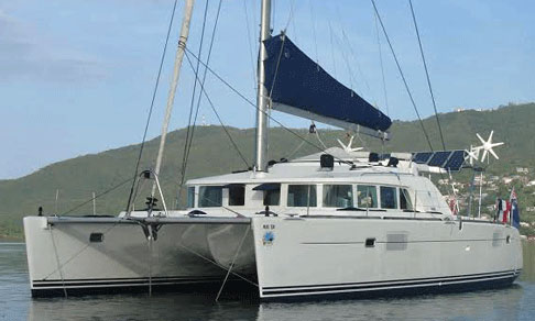 Lagoon 440 catamaran at anchor