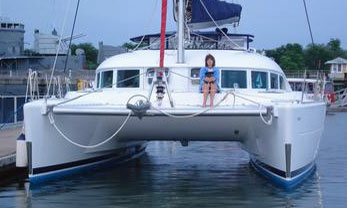 A 2004 Lagoon 380 catamaran for sale