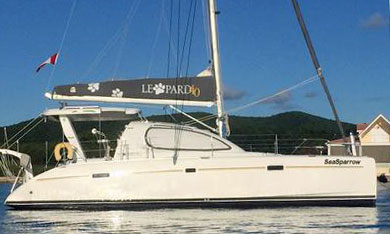 'Sea Sparrow', a leopard 40 catamaran for sale