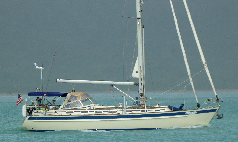 A Malo 45 cruising sailboat