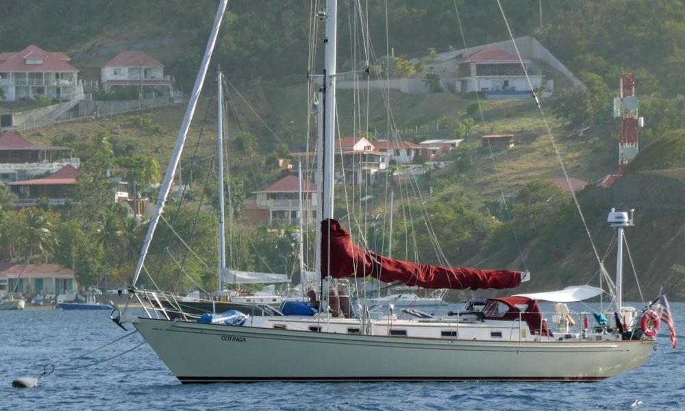 A Morris 46 sailboat