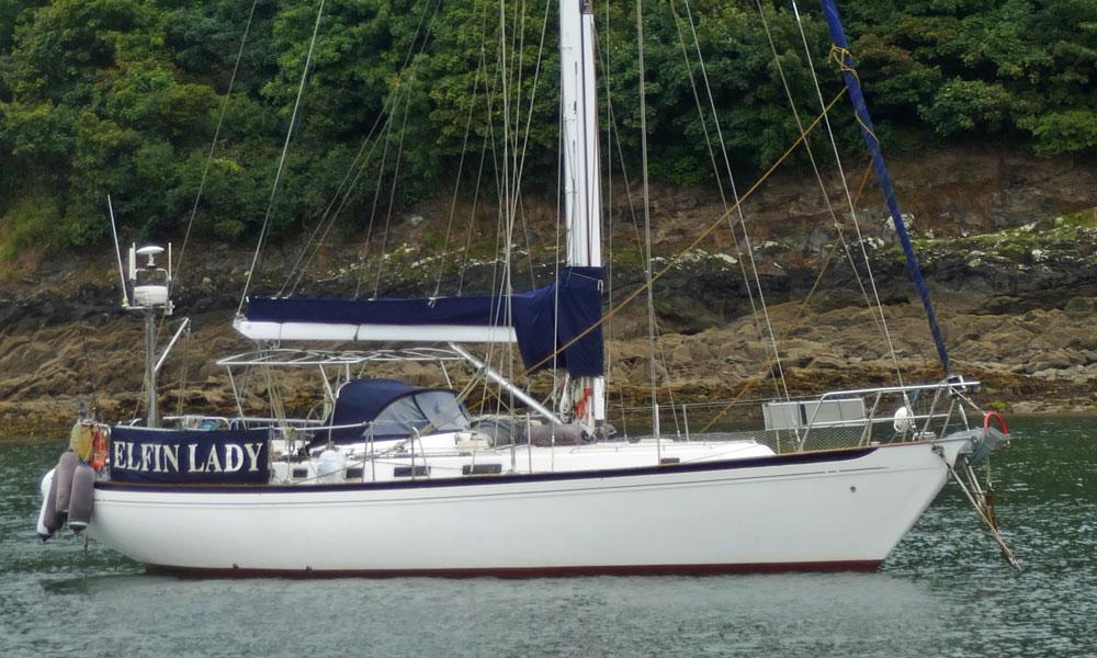 A Nicholson 476 sailboat