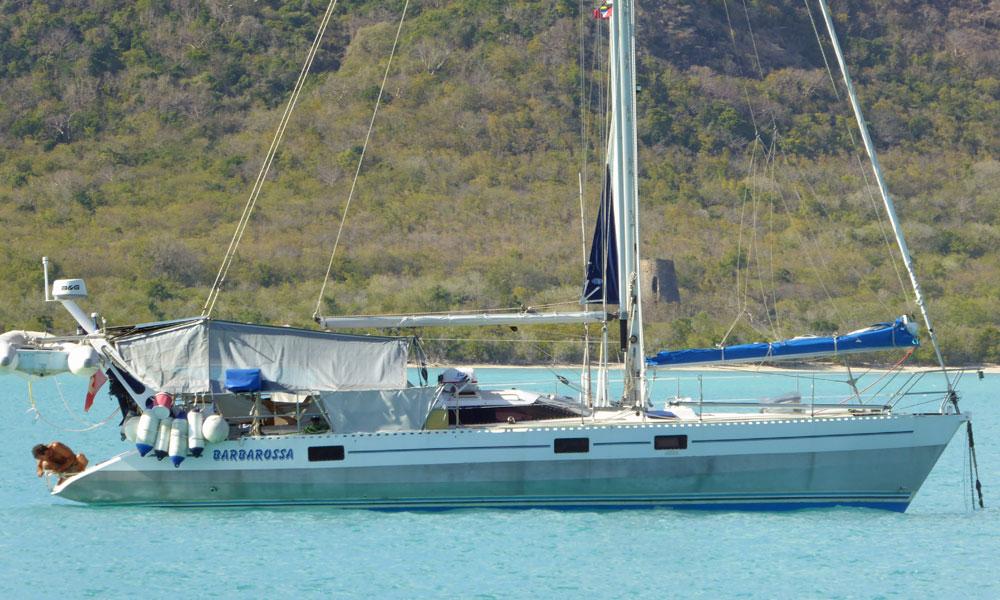 An Ovni AluBat 43 sailboat
