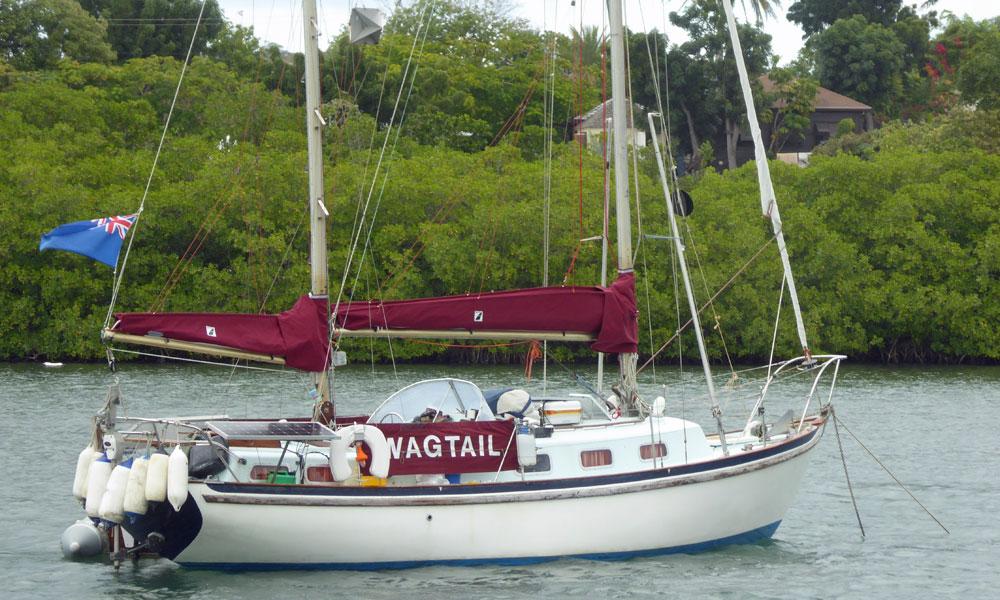 A Seadog 30 Ketch sailboat
