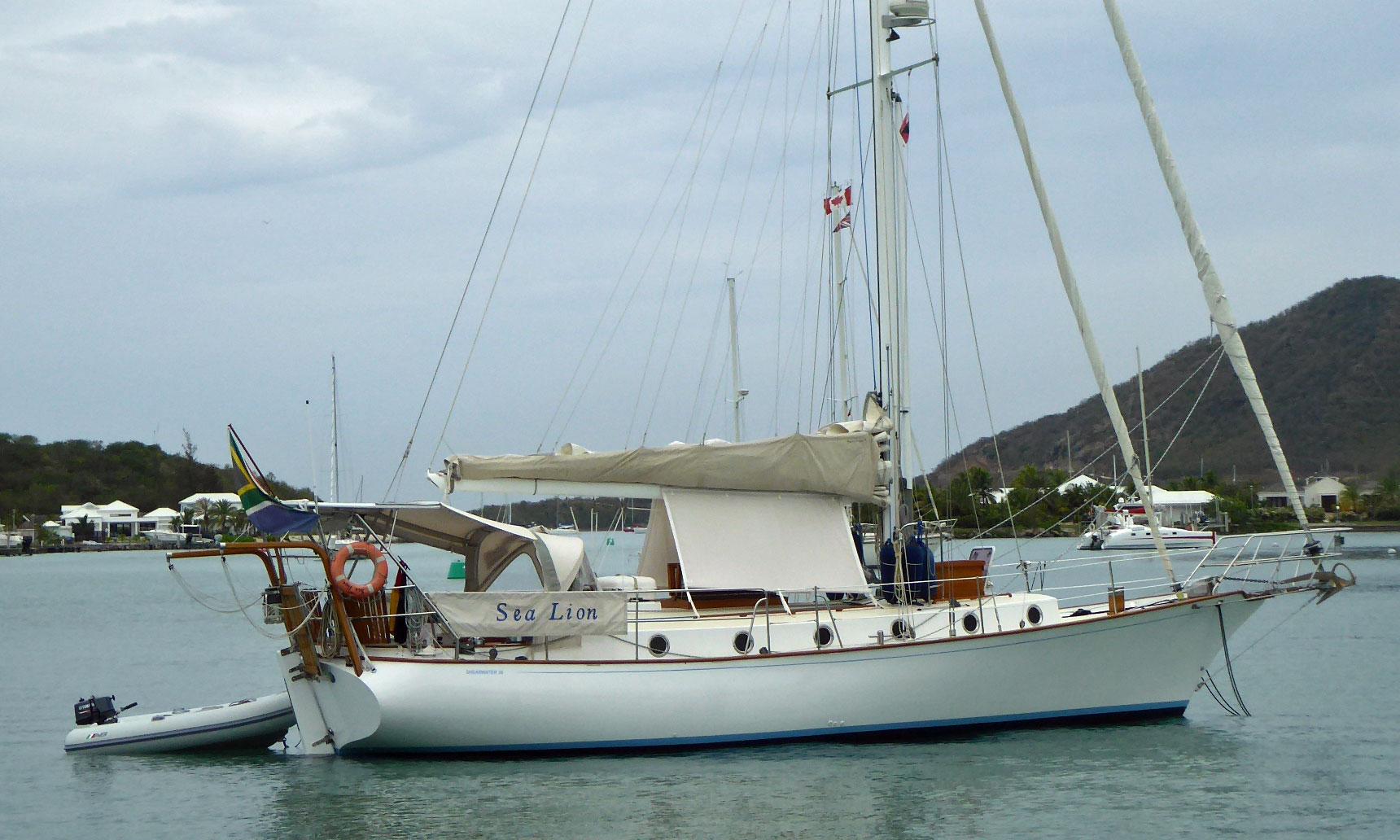 A Shearwater 39 cruising yacht