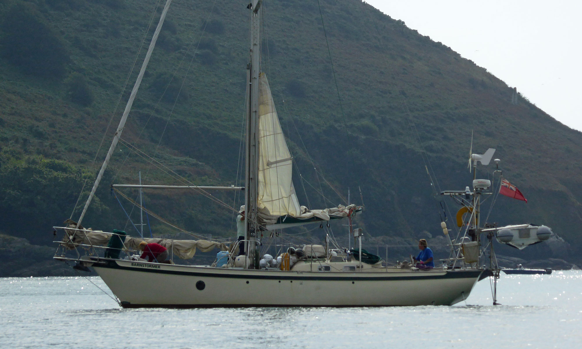 A Tradewind 35 heavy-displacement cruising boat
