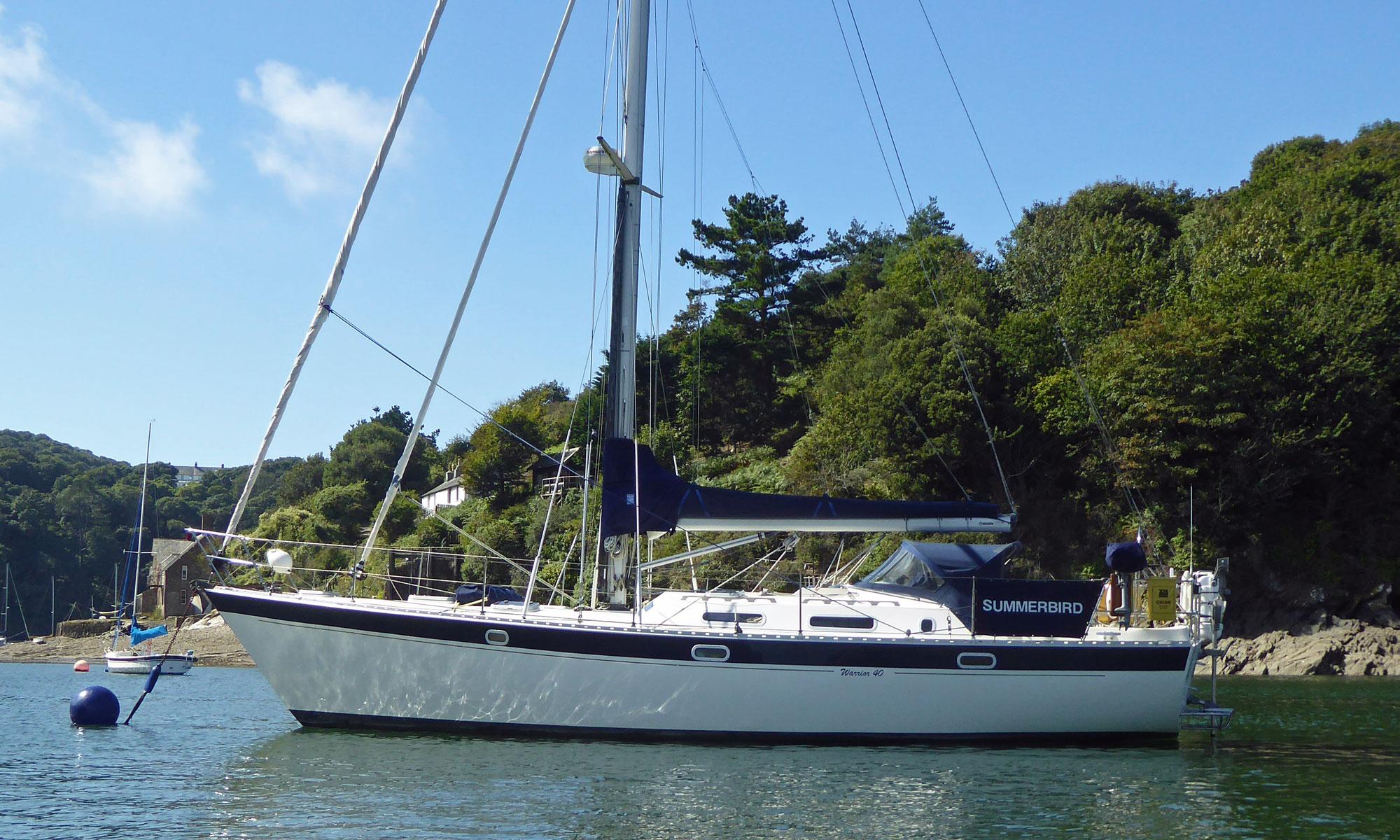 A Warrior 40 sailboat