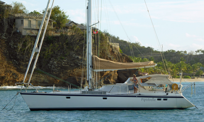 A Wauquiez 48 Pilot House cruising yacht