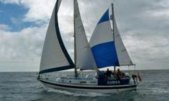 A Westerly 33 ketch under full sail