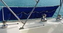 Sailboat bimini mounted on a track.