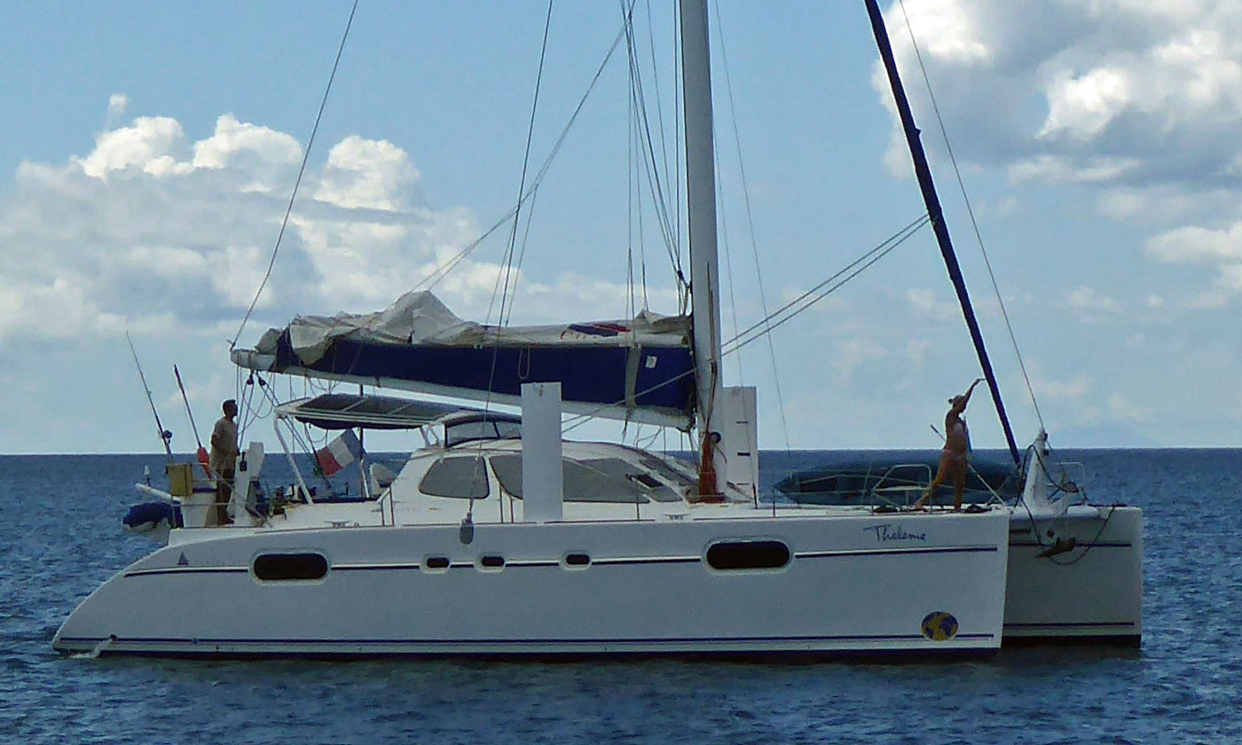 A Catana 471 cruising catamaran