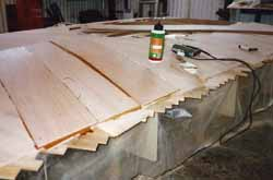the second stage of making the coachroof for our wooden sailing boat