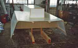 temporary mould for grp cockpit moulding for sailboat