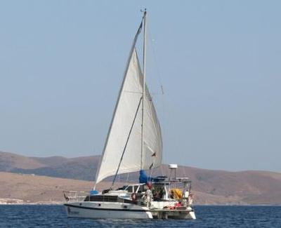 Off the island of Lesbos