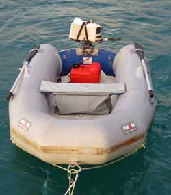 An Avon Rover inflatable dinghy