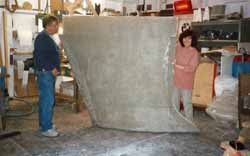 GRP casing for sailboat bulb fin keel
