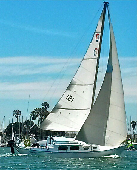 A columbia 29 Mk1 sailboat