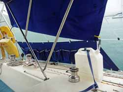 using the bimini as a raincatcher