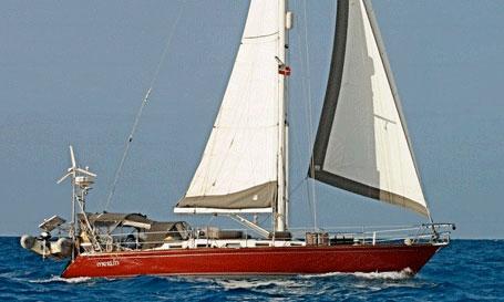 A Tartan 40 sailboat
