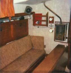 Taylor parafiin cabin heater on Nicholson 32 sailboat