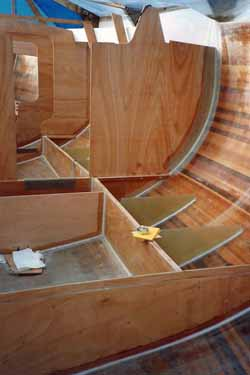 building water ballast tanks on a wood epoxy self build sailboat