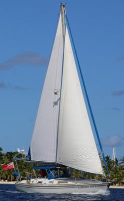 With the 105% heavy weather inner headsail