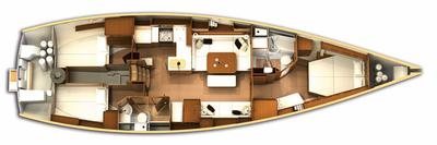 The Interior Layout Design (Courtesy of X-Yachts)